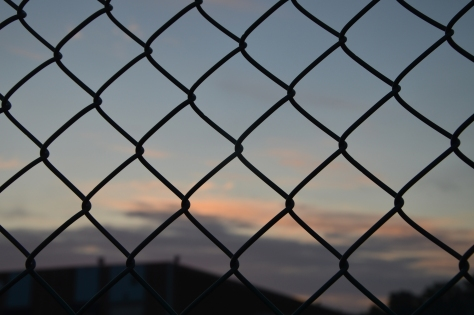 through chain link fence