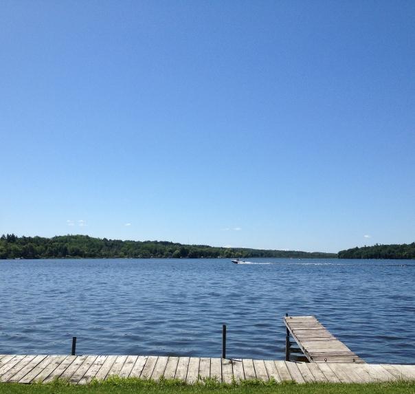 blue skies calm water