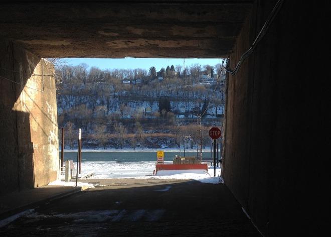 marina through tunnel