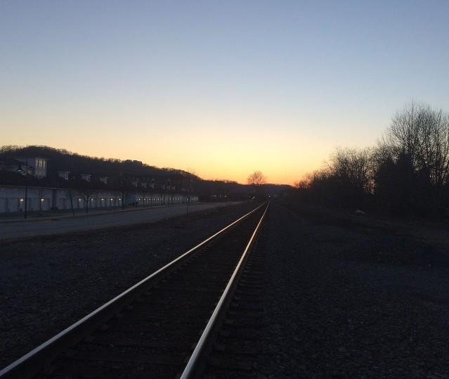 tracks in sunset 2