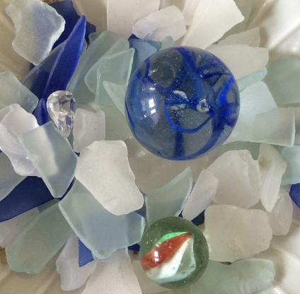 glass and marbles