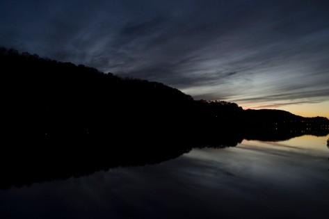sunset on river scene