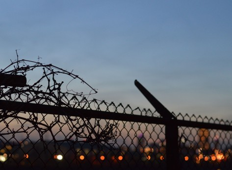 fence-against-city-lights