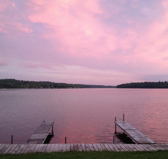 pink sky two docks