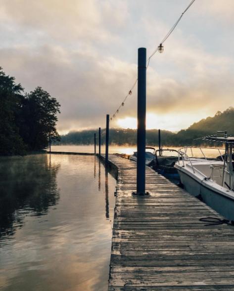docks w fog