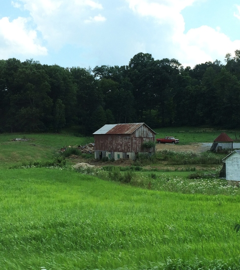 barn and field