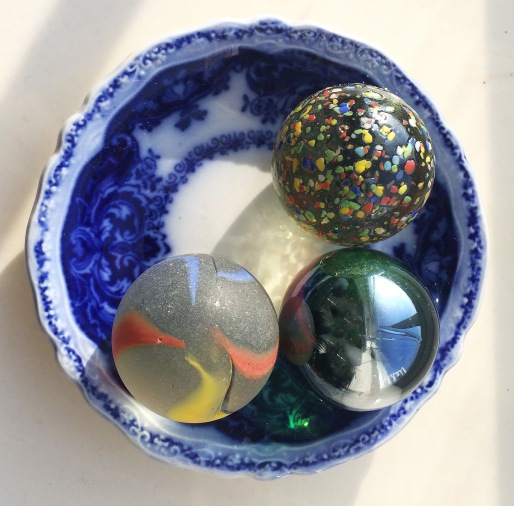 marbles in dish