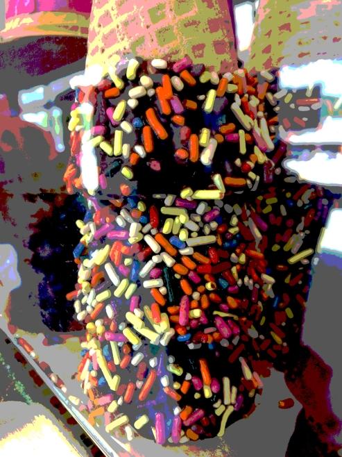 cones w sprinkles