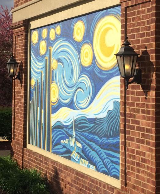 mural at waterfront